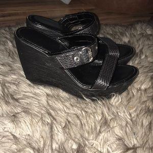Nine West Shoes - Black wedges